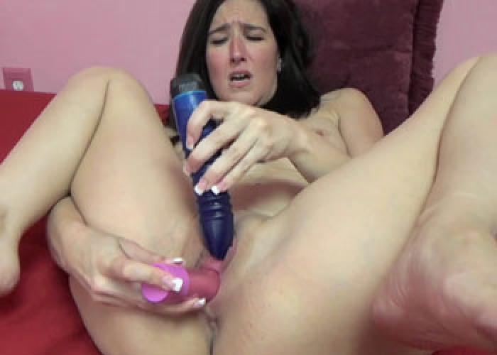 Alesia pleasure uses her dildos on her wet tw 6